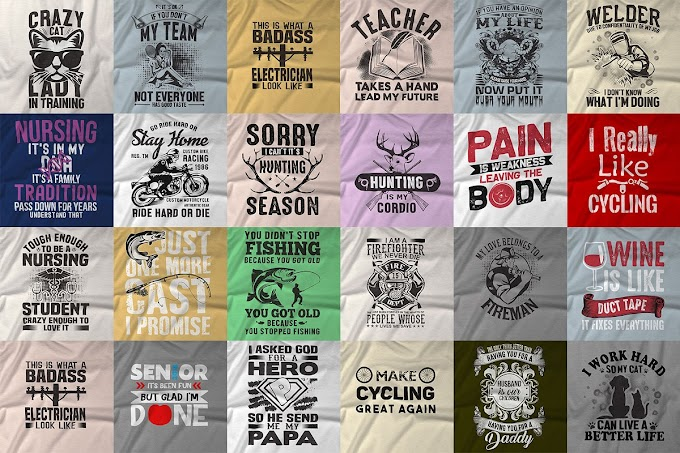 300 Editable T-shirt Design Template in Photoshop & Illustrator
