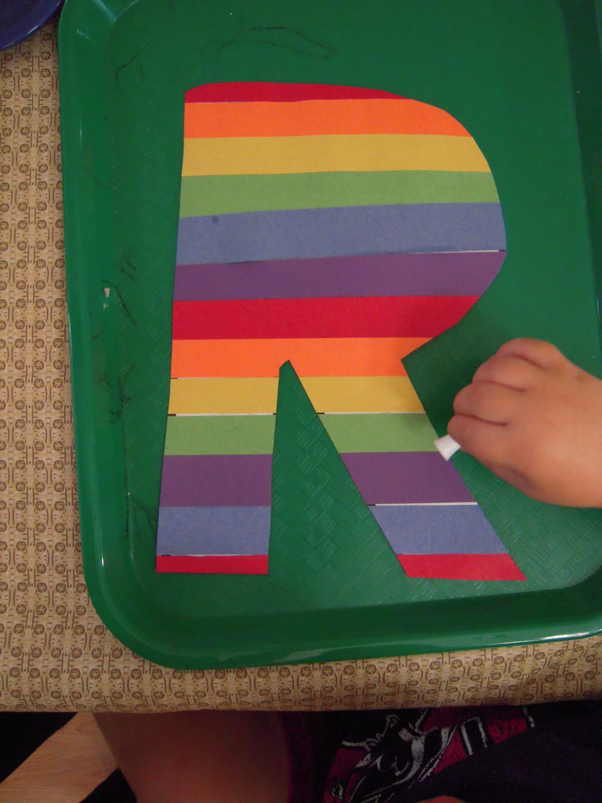 DSCN6595 Letter R Craft Colored Template on for preschoolers, free printable alphabet,