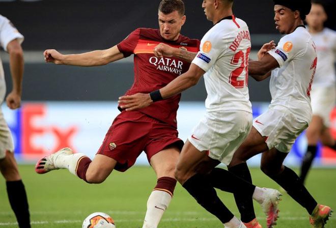 Video Sevilla 2-0 AS Roma: Định đoạt hiệp 1, thẻ đỏ hạ màn