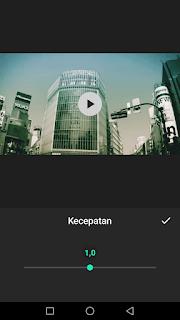 Cara edit video mengatur kecepatan video menggunakan aplikasi Inshot di Android