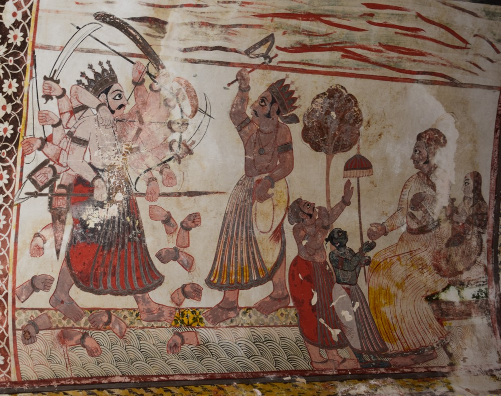 Paintings of Raja Mahal, Orchha