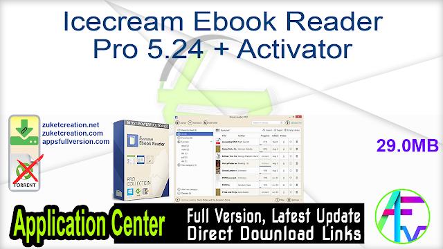 Icecream Ebook Reader Pro 5.24 + Activator