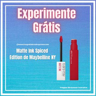 Experimente Grátis Novo Batom Líquido Maybelline