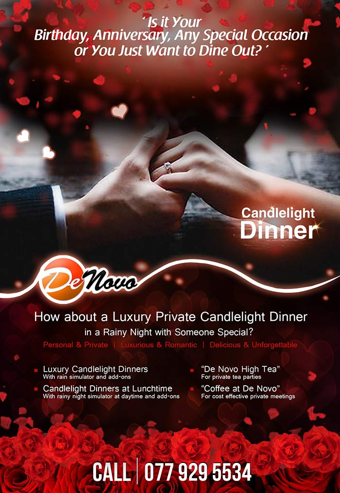 Is it your birthday, anniversary, any special occasion or you just want to dine out? How about a Romantic Private Candlelight Dinner in a Rainy Night with Someone Special?