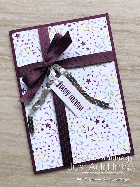 Jo's Stamping Spot - Just Add Ink Challenge #432 using Picture Perfect Birthday Stamp Set by Stampin' Up!