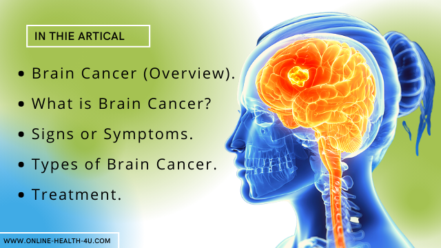 What are some Common Brain Diseases | Types Of Brain Cancer and Symptoms.