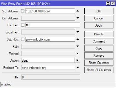 Mengatur Firewall Redirect situs dengan mikrotik