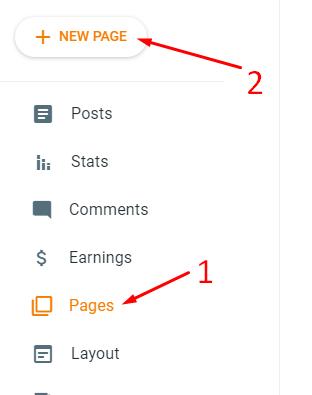 Disclaimer page कैसे बनाएँ blog website के लिए