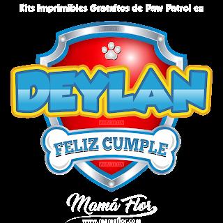 Logo de Paw Patrol: DEYLAN