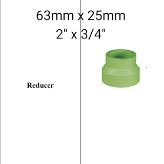 Jual reducer pipa ppr lesso 63mm x 25mm