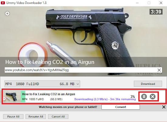 download berjalan bisa anda pause atau stop