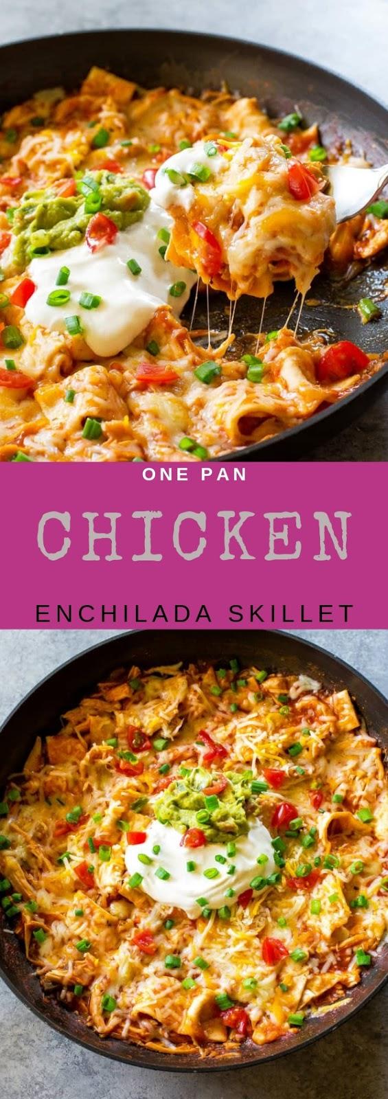 One Pan Chicken Enchilada Skillet #maincourse #onepan #chicken #enchilada #skillet