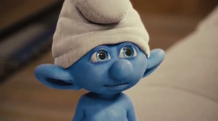 Screen Shot Of The Smurfs (2011) Dual Audio Movie 300MB small Size PC Movie