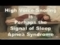 High Voice Snoring is Perhaps the Signal of Sleep Apnea Syndrome