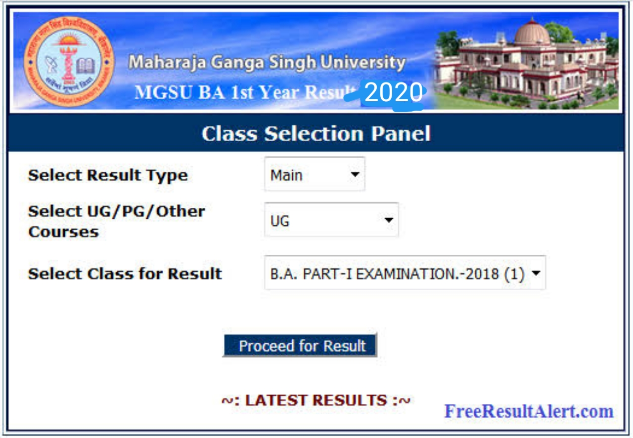 MGSU Bikaner MA Final Result 2020 | check now your result