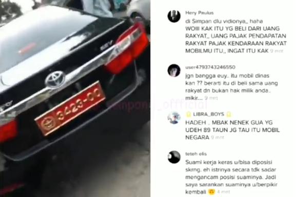Wanita Viral Pakai Plat TNI Akhirnya Minta Maaf, Ternyata Buat Plat Bodong di Bandung