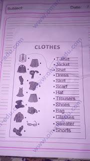 clothes - الملابس