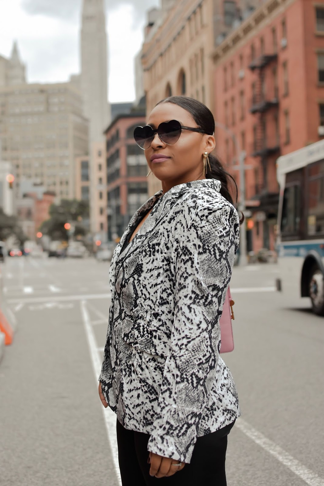 nyfw, new york city, new york streetstyle, shein, fall fashion, animal print blazer