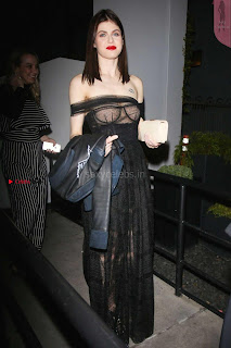 Alexandra Daddario Showing off her  in transparent top at Dior Addict Lacquer Pump Launch ~ Celebs.in Exclusive 013.jpg