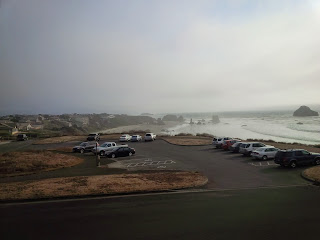 The punctures are worth it for this view. A misty bay in America.