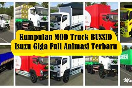 Kumpulan MOD Truck BUSSID Isuzu Giga Full Animasi Terbaru