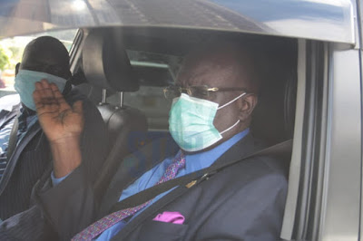 Prof George Magoha arriving at the parliament building
