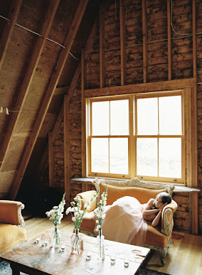 A room above the barn at Jonna and Heather's Inn at West Settlement Wedding by Karen Hill Photography