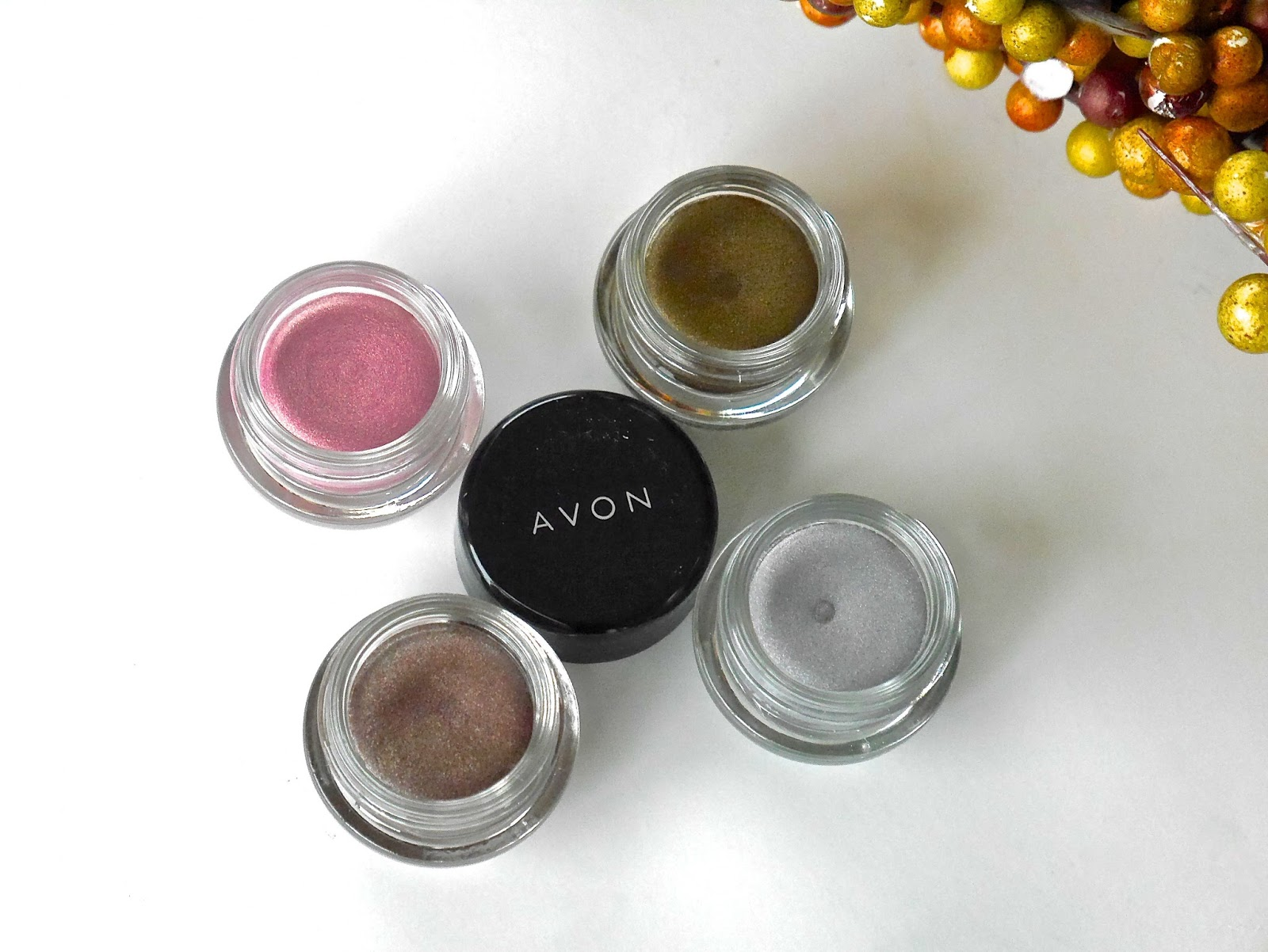 nail polish, metals, cream eyeshadow, pencil eyeliners