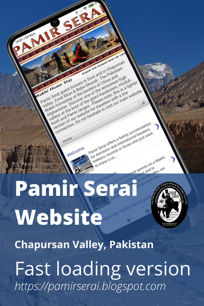 PamirSerai guesthouse, Chapursan Valley light website