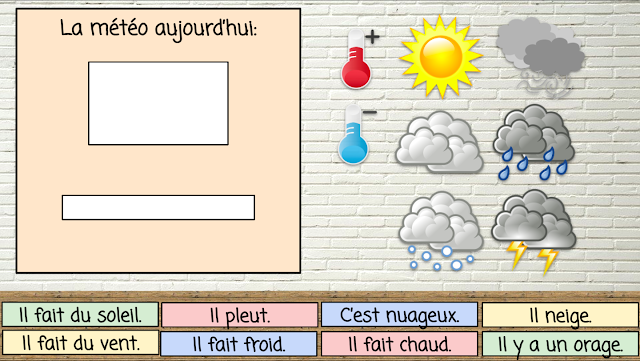 Interactive French Weather Board - Google Slides