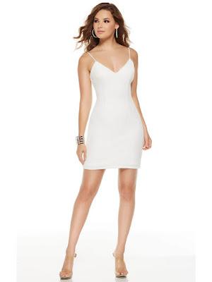 Fitted Jersy Alyce Paris Graduation Short Party Dress Diamond white color