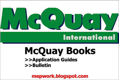McQuay Application Guide is a collection of books that describe and illustrate every application of HVAC systems