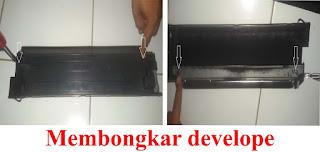 cara membongkar develope canon ir 5000/6000/6570