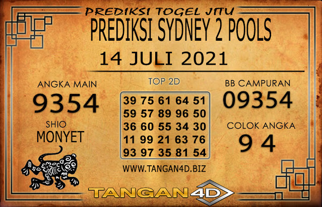 PREDIKSI TOGEL SYDNEY2 TANGAN4D 14 JULI 2021