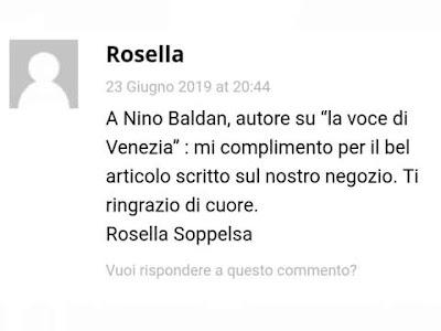 Il commento della signora Rosella Soppesa