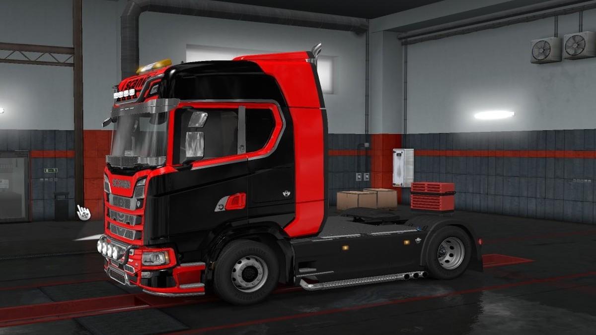 Scania 2016 Black & Red Skin