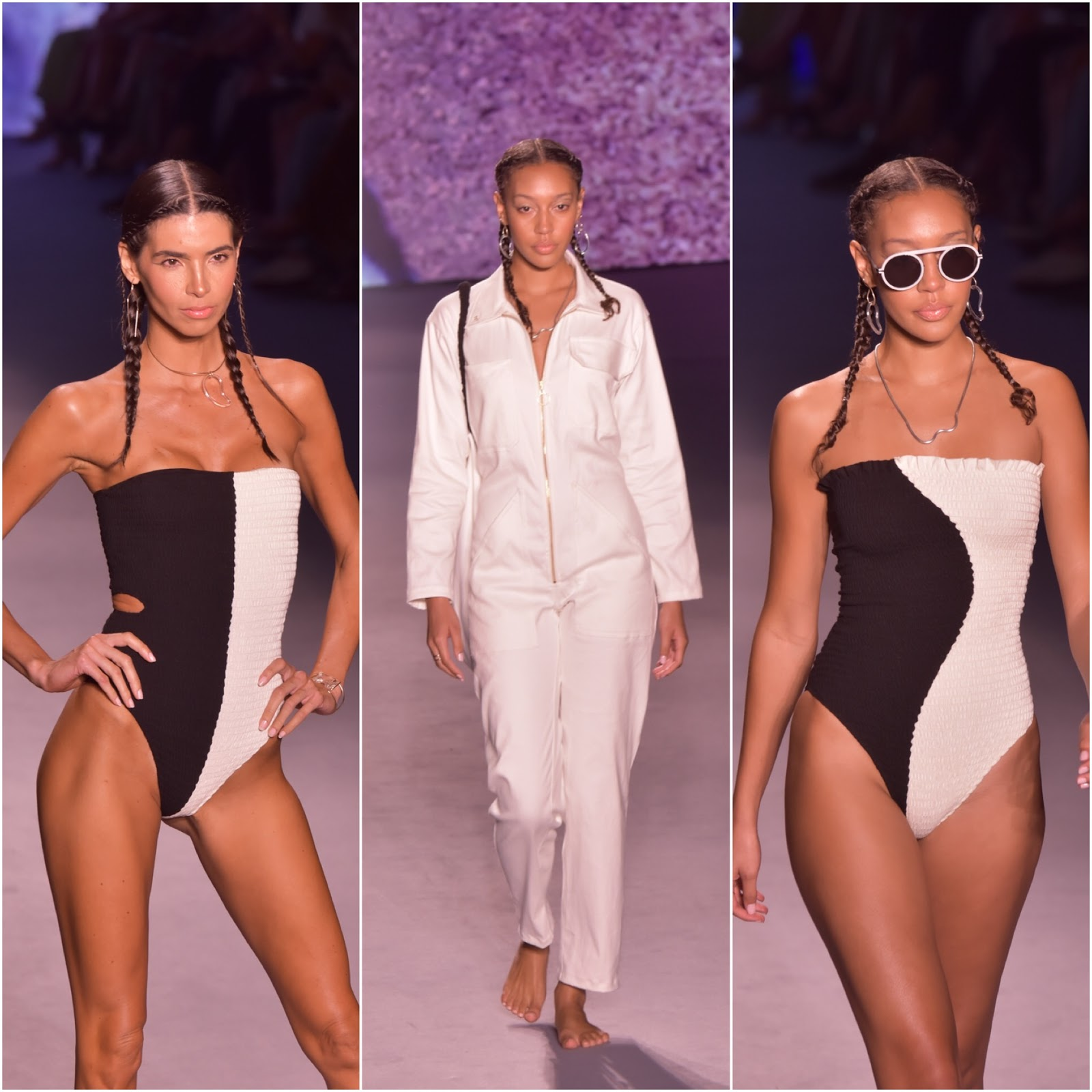 Miami swimweek, swimweek, miamiswimweek2019, fashion week, floral jumpsuit, romper, summer outfit ideas, straw handbags