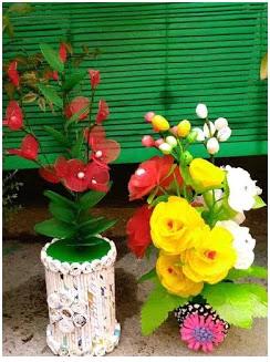 Bunga Hias Dari Plastik Kresek