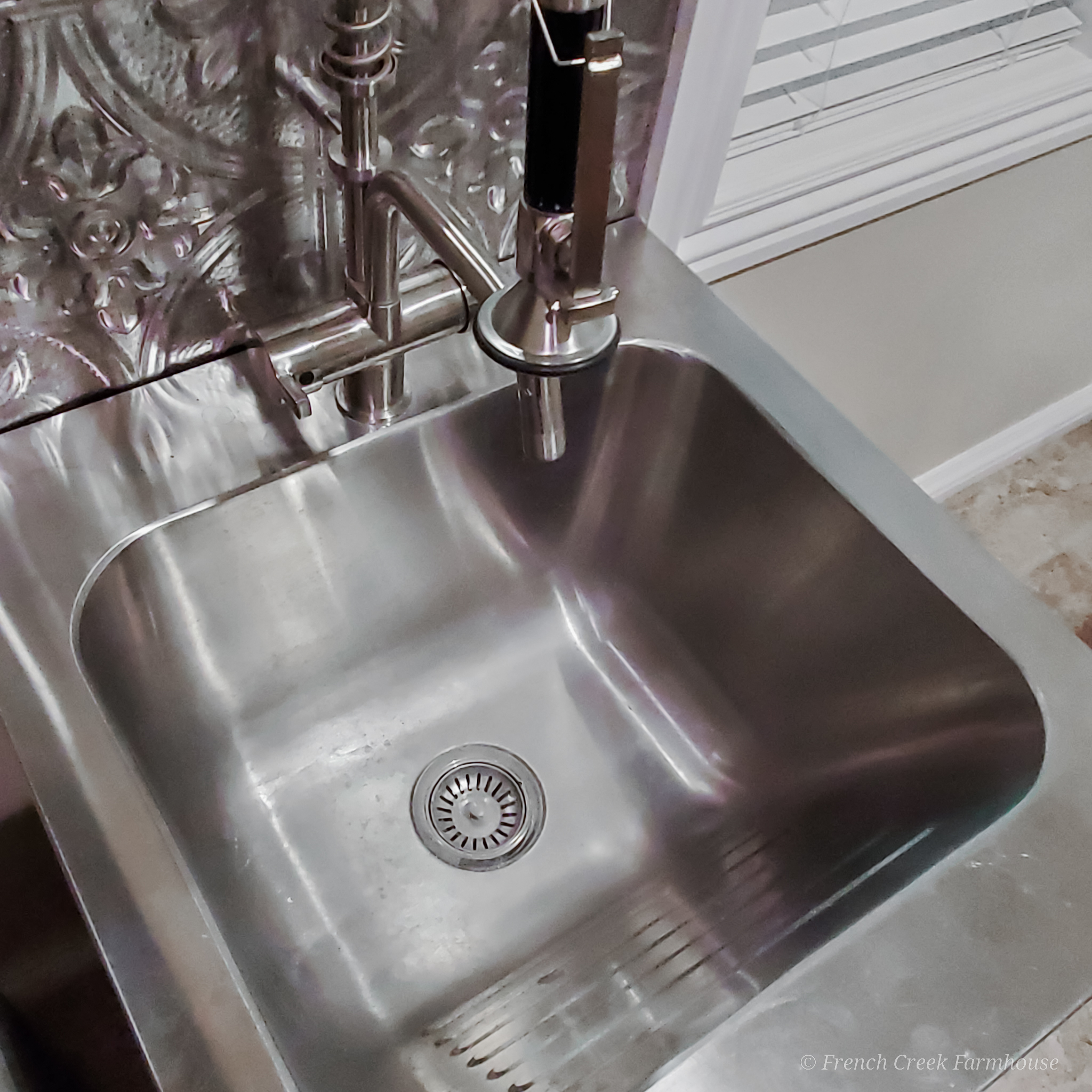 The next step in our renovation is updating the utility sink