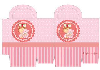 Cajas de Fiesta de Strawberry Shortcake Bebé para imprimir gratis.