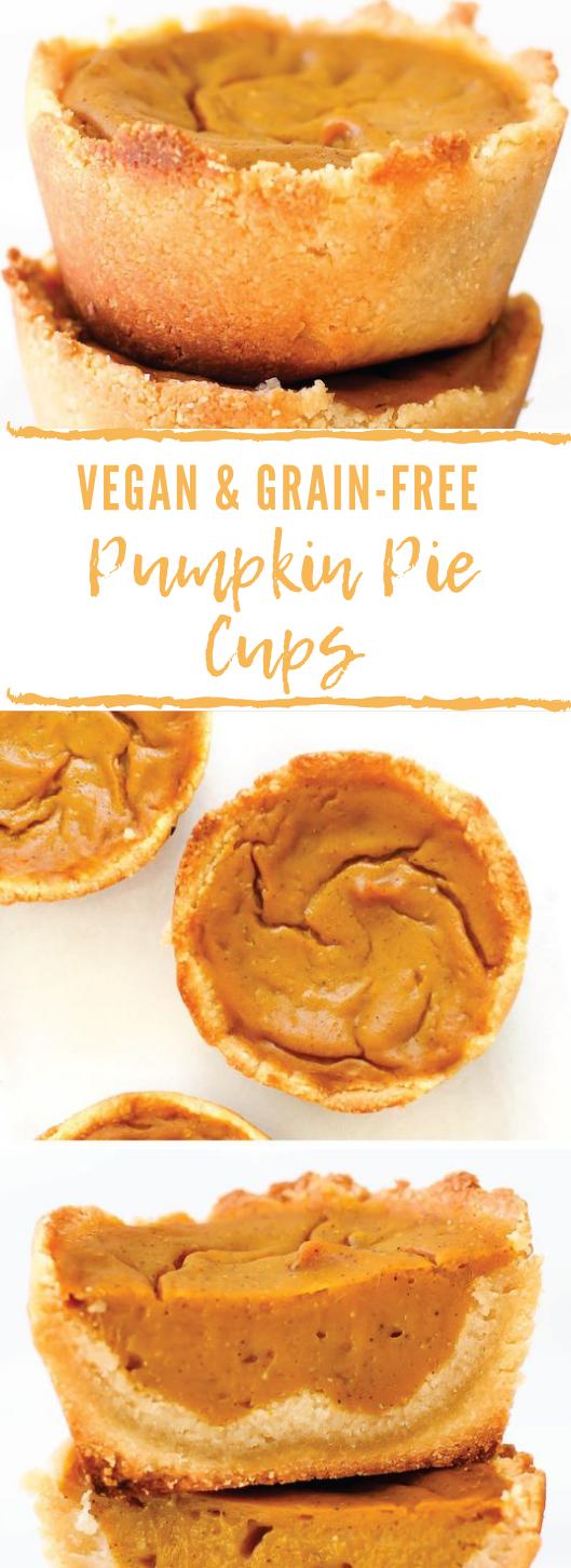 VEGAN & GRAIN-FREE PUMPKIN PIE CUPS #pumpkin #cake #dessert #pie #snack