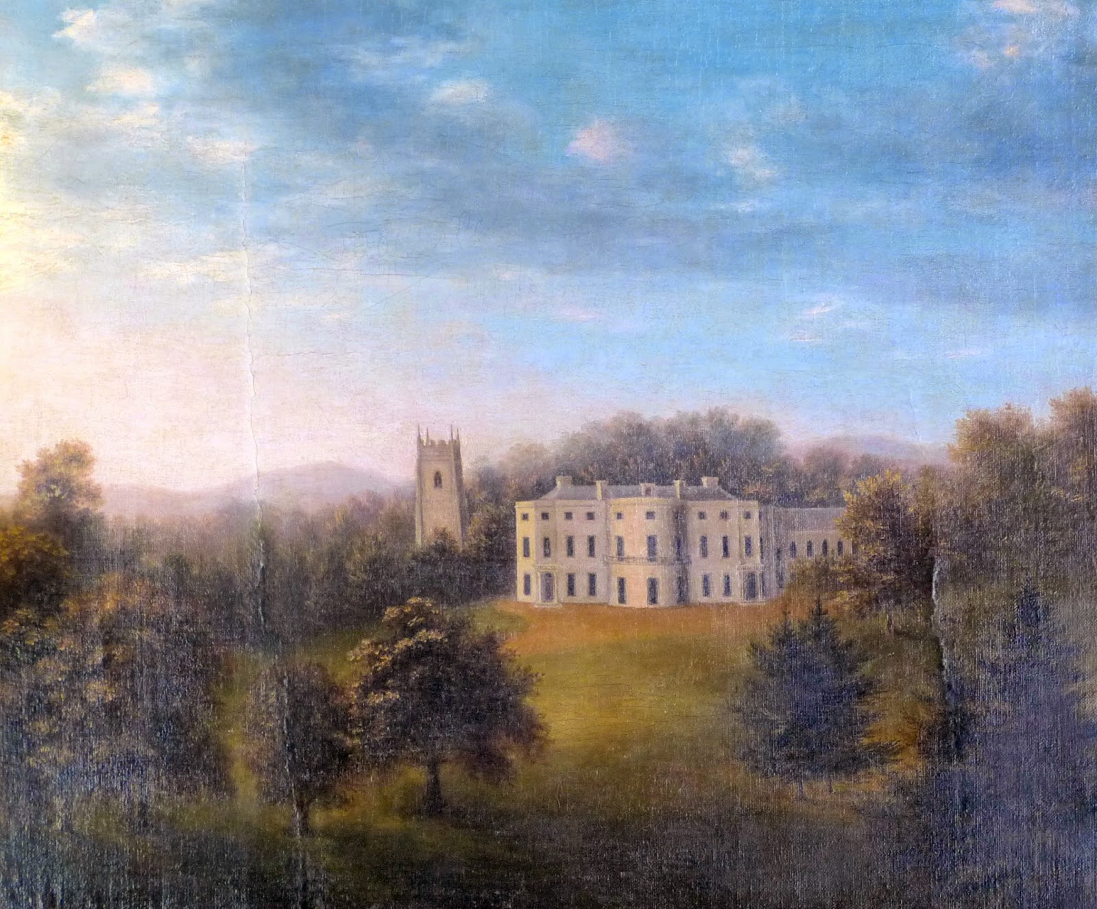 A View of Arlington Court and St James' Church Tower  from the Park by Maria Pixell (1797)
