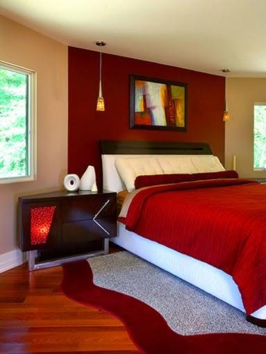 Diseño dormitorio rojo