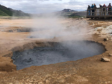 Boiling geothermal mud pots (Source: Palmia Observatory)