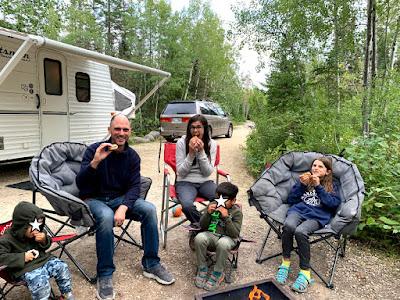 Caveys camping near Winnipeg, MB, Canada