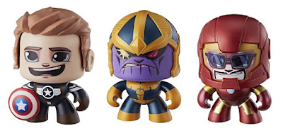 Marvel Mighty Muggs Mini Figure Series 3 by Hasbro - Captain America Steve Rogers, Thanos & Iron Man