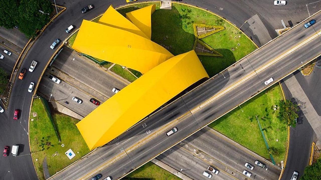 Vista aérea de los arcos del milenio