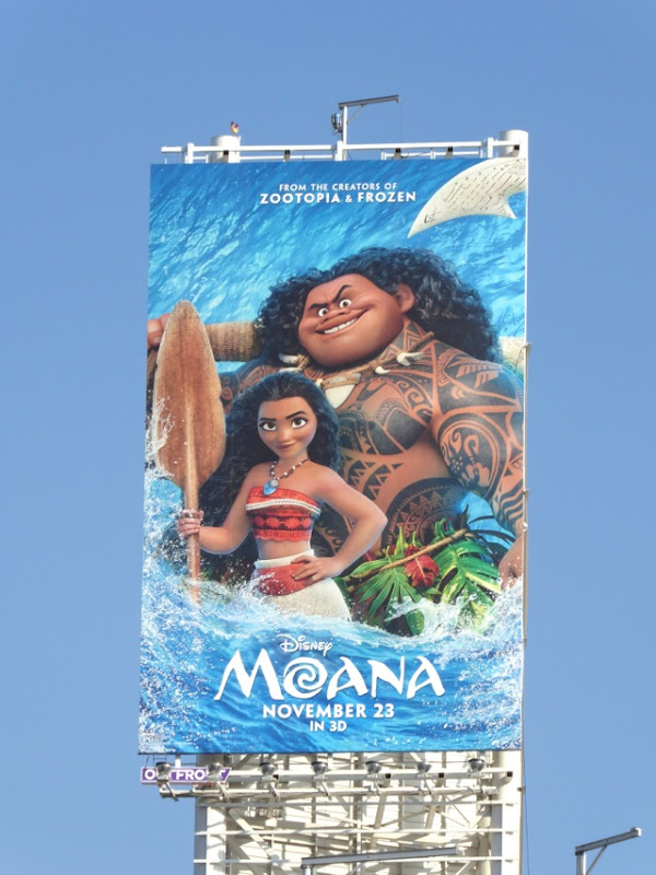 Moana movie billboard