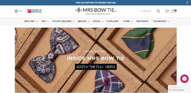 mrs bow tie online fashion store shopify ecommerce sell clothing site