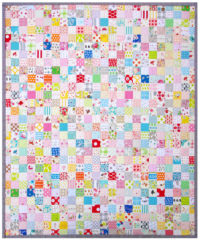 For the Love of Patchwork - A Finished Quilt | Red Pepper Quilts 2016
